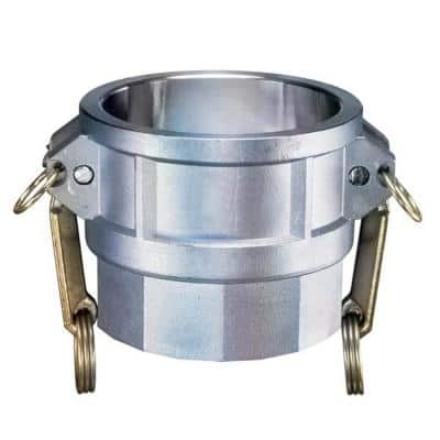2 in. Part D Aluminum Female Coupler for Lay Flat Discharge Backwash and Suction Hoses
