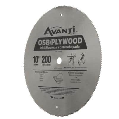 10 in. x 200-Tooth OSB/Plywood Ripping Circular Saw Blade