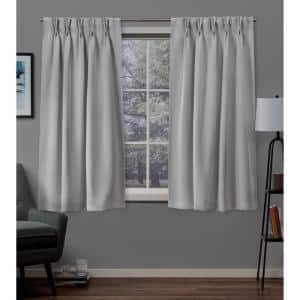 Silver Thermal Pinch Pleat Blackout Curtain - 30 in. W x 63 in. L