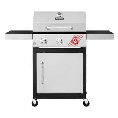3-Burner Propane Gas Grill in Stainless Steel with TriVantage Multifunctional Cooking System