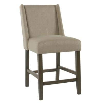 Dinah Stone Upholstery 26 in. Counter Height Bar Stool