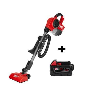 M18 FUEL 18-Volt Lithium-Ion Brushless 1 Gal. Cordless Jobsite Vacuum with (1) M18 5.0 Ah Battery
