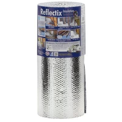 24 in. x 25 ft. Double Reflective Insulation Roll with Staple Tab Edge