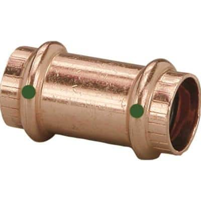 Propress 1/2 in. Press Copper Coupling Fitting No Stop (10-Pack)