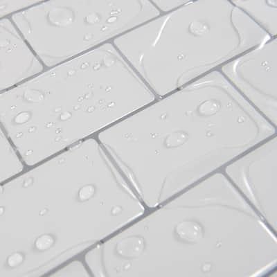 White Subway Vinyl Peel and Stick Backsplash Tile 11.8 in. x 10.5 in. ( 8 sq ft /Pack)