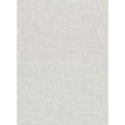 Upton Light Grey Faux Linen Light Grey Wallpaper Sample