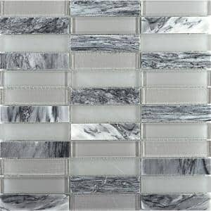 Illumina Luster Glossy 11.73 in. x 11.73 in. x 8mm Glass Mesh-Mounted Mosaic Tile (0.96 sq. ft.)