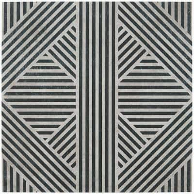 Astoria Black and White 24 in. x 24 in. Matte Porcelain Floor and Wall Tile (4 Pieces, 15.49 sq. ft./Case)