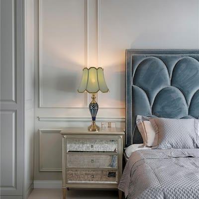 Petunia 28 in. Blue Indoor Table Lamp