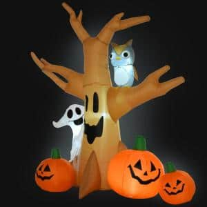 Outsunny 7.5 ft. LED Haunted Tree and Pumpkins Halloween Deals