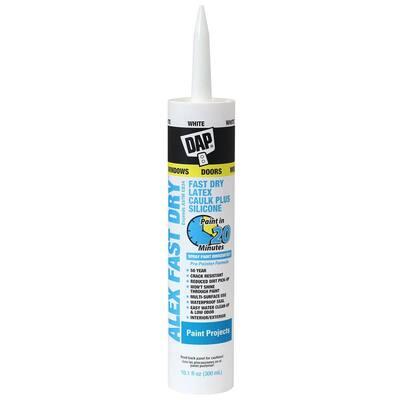 Alex Fast Dry 10.1 oz. White Acrylic Latex Plus Silicone Caulk