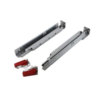 21 in. Full Extension Under Mount Soft Close Ball Bearing Drawer Slide with Rear Bracket Set (2-Pair)