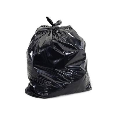 55 Gal. Black Trash Bags 3.0 mil, 40 in. x 50 in. (50-Count)