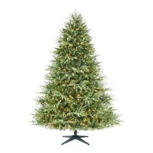7.5 ft Carriage Fraser Fir LED Pre-Lit Artificial Christmas Tree with 1,000 Color Changing Mini Lights