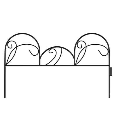 11 in. Metal Decorative Mimosa Garden Fencing (Set of 5)