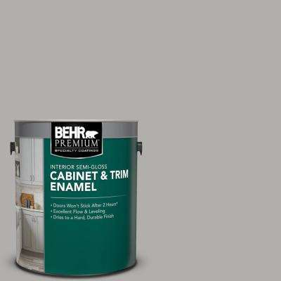 1 gal. #N520-3 Flannel Gray Semi-Gloss Enamel Interior Cabinet and Trim Paint