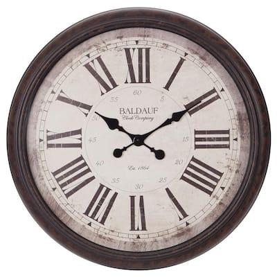 Baldaud Roman Numeral Antique Bronze Wall Clock