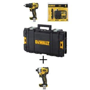 ATOMIC 20-Volt MAX Cordless Brushless 1/2 in. Drill/Driver Kit, (1) 4.0Ah Battery, 1/4 in. Impact Driver & Tough System