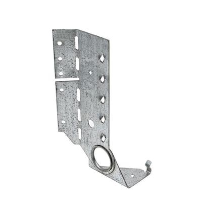 LSSJ ZMAX Face-Mount Adjustable Light Slopeable/Skewable Jack Hanger for 2x8 Nominal Lumber, Right