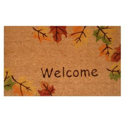 Autumn Breeze 17 in. x 29 in. Coir Door Mat