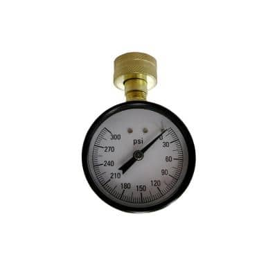 300 psi Water Test Gauge with 3/4 in. Hose Connection