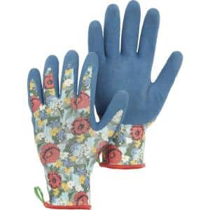 Hestra Small Floral Latex Dip Gardening Gloves