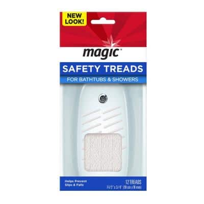 7-1/2 in. x 3/4 in. Safety Treads for Tubs and Showers (12-Pack)