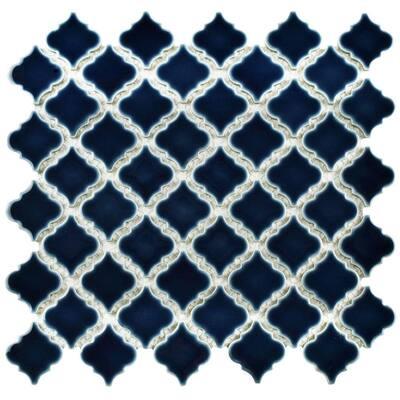 Hudson Tangier Noir 12 in. x 12 in. Porcelain Mosaic Tile (10.96 sq. ft. / Case)