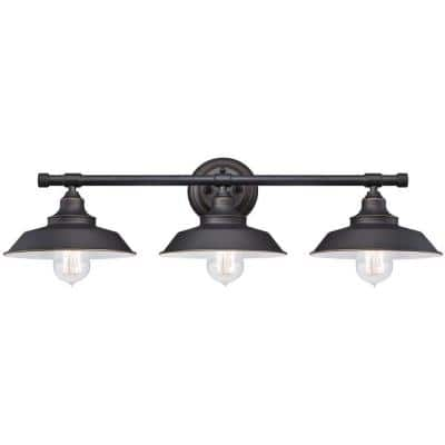 Iron Hill 3-Light Oil-Rubbed Bronze Wall Fixture