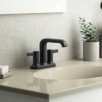 Ashan 4 in. Centerset 2-Handle Bathroom Faucet in Matte Black