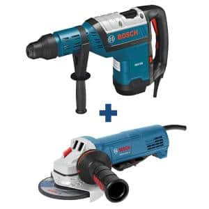 13.5 Amp 1-9/16 in. Corded SDS-Max Concrete/Masonry Rotary Hammer Drill with Bonus 10 Amp Corded 4-1/2 in. Angle Grinder