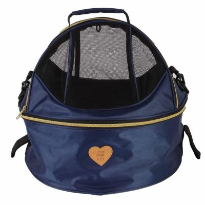 Air-Venture Dual-Zip Airline Approved Panoramic Pet Dog Carrier in Navy