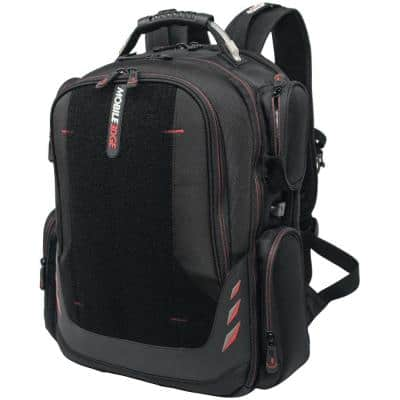 18 in. Black Core Gaming Backpack with Velcro Front Pocket