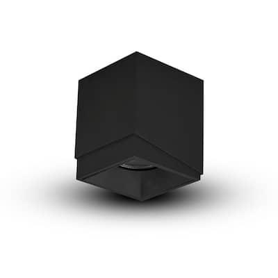 Node 3.25 in. 1-Light Beam Angle 33 Black Integrated LED Flush Mount