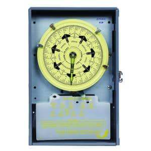 40 Amp 208-277 VAC 4PST 7-Day Time Switch Indoor Enclosure with Carryover