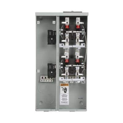 Uni-PAK 2-Gang 200 Amp Ringless Style Multi-Family Metering with Horn Bypass