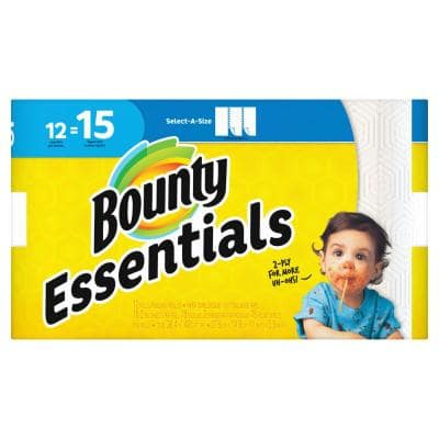 Essentials Select-A-Size White Paper Towels (12-Large Rolls)