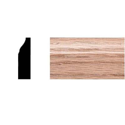 3/8 in. x 1-1/4 in. x 7 ft. Oak Colonial Stop/Mullion Moulding