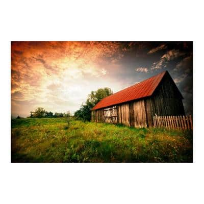 """47 in. x 32 in. """"Country Paradise"""" Tempered Glass Wall Art"""