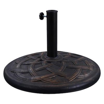 42 lbs. Resin Stone Composite Heavy-Duty Market Umbrella Base in Antique Bronze