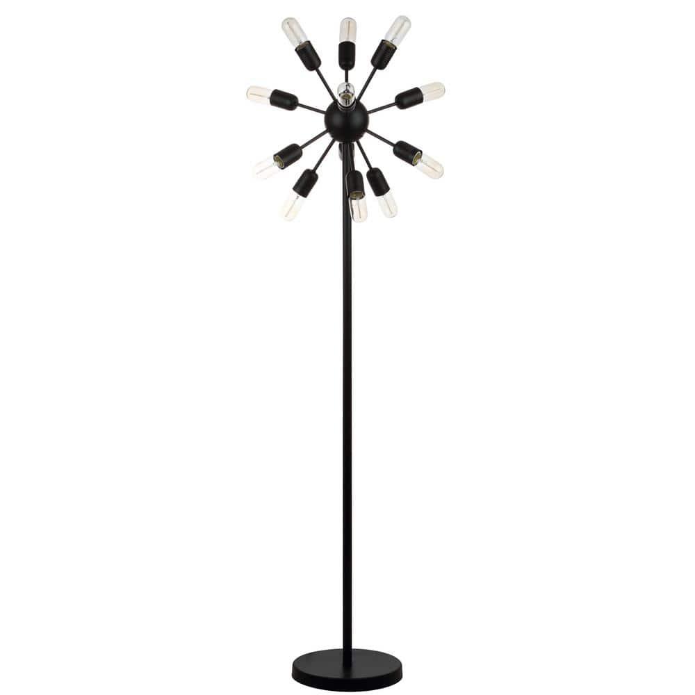 Safavieh Urban 67 5 In Black Retro Floor Lamp With Edison 25 Watt Bulbs Lit4474a The Home Depot