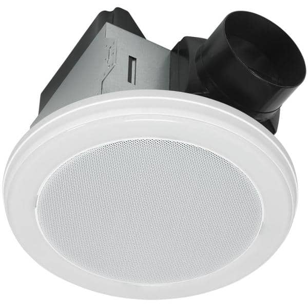 Home Netwerks Decorative White 80 Cfm Ceiling Mount Bluetooth Stereo Speaker Bathroom Exhaust Fan With Led Light 7130 18 Bt The Home Depot