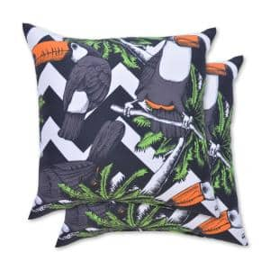 Toucan Square Outdoor Throw Pillow (2-Pack)