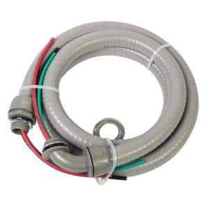 3/4 in. x 6 ft. 8/2 and 10/1 Non-Metallic Flexible Liquidtight A/C Electrical Whip (1-Pack)