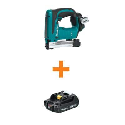 18-Volt LXT Lithium-Ion Cordless 3/8 in. Crown Stapler, Tool Only with Bonus 18V LXT Lithium-Ion Compact 2.0 Ah Battery