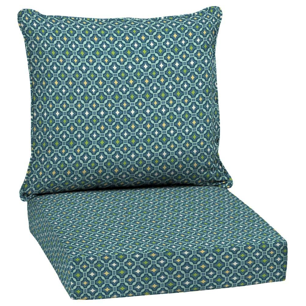 Arden Selections 24 X 24 Alana Tile 2 Piece Deep Seating Outdoor Lounge Chair Cushion Th1m297b D9z1 The Home Depot