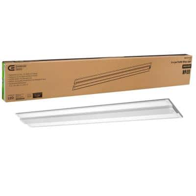 4 ft. Ultra Low Profile 3200 Lumens Integrated LED Dimmable White Wraparound Light 4000K Bright White