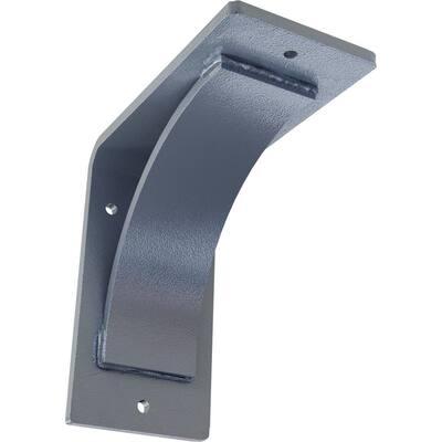 3 in. x 6 in. x 6 in. Hammered Light Blue Morris Steel Bracket