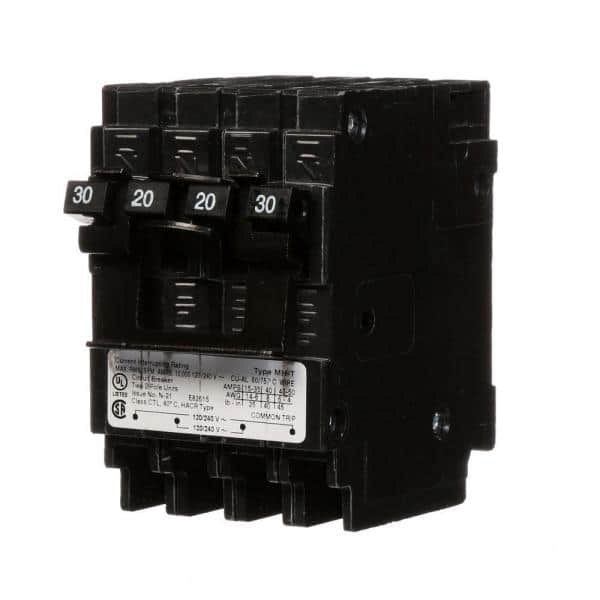 Murray Quadplex One Outer 20 Amp Double Pole And One Inner 30 Amp Double Pole Circuit Breaker Mp220230ct2 The Home Depot