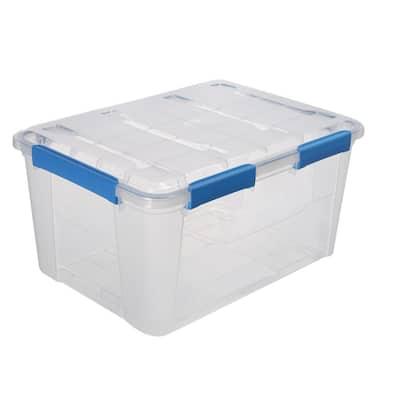 75L/79.3Qt Waterproof Clear Latch Tote IP-67